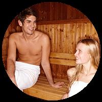 sauna prestige venetian 2 ambiente vista