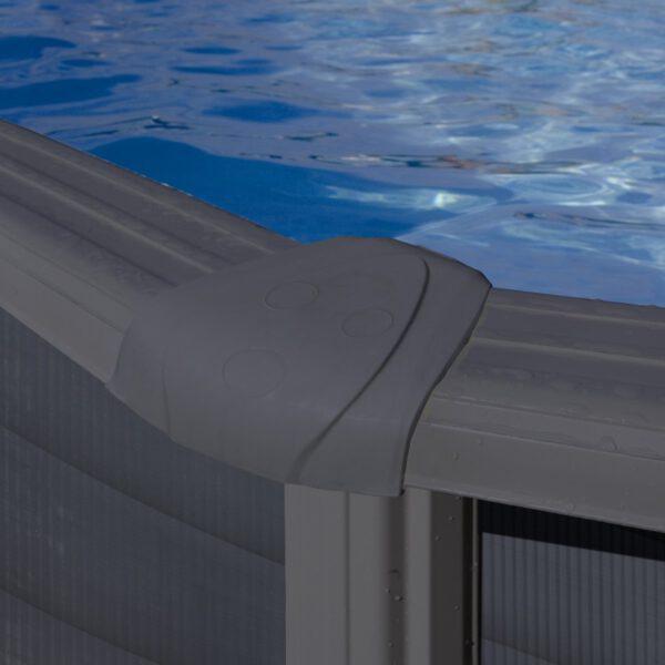 protector de inyección de la piscina de acero GRE (imitación grafito) imagen