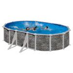 piscina Córcega ovalada de GRE imagen