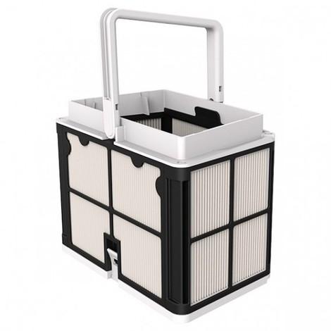 imagen cesta con paneles del limpiafondos Dolphin S200