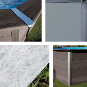imagen montaje piscinas de composite (perfil, embellecedor, fieltro y liner